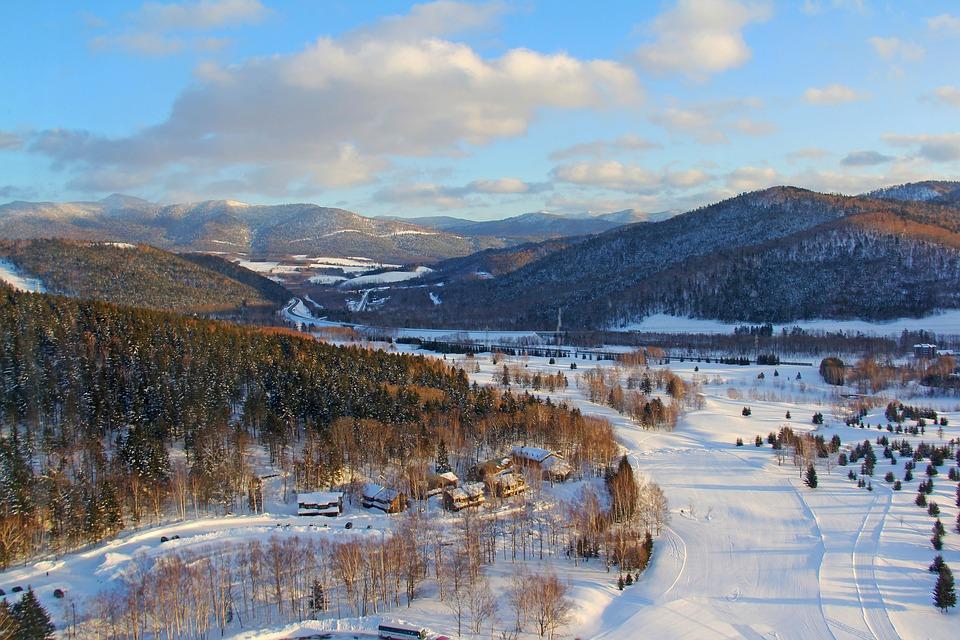 素晴らしい, 不思議, 美しい, 驚くべき, 雪, 表示モード, 目, 冬, 星野, リゾート, 青い空, 青