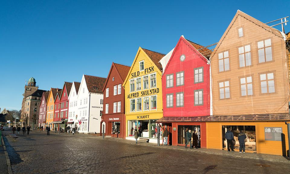 Bergen, Norway, City, Europe, Scandinavia, Architecture