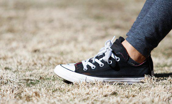 Converse shoes grass outdoors sneakers you