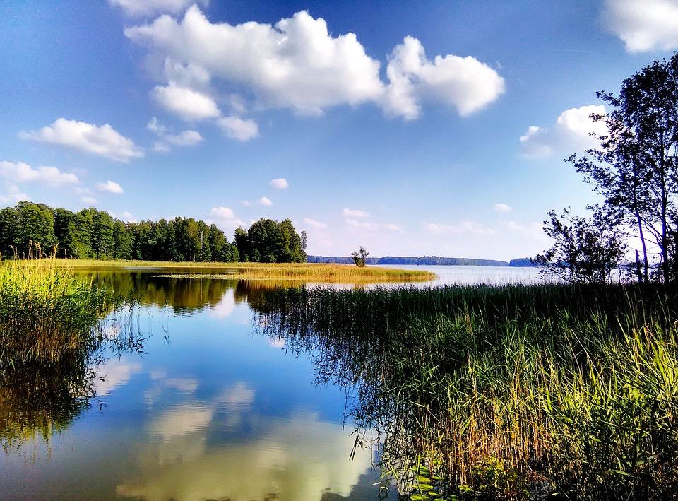 Widok, Natura, Mazury, Jezioro, Woda, Krajobraz