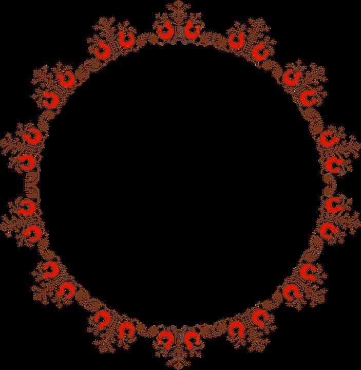 abstract geometric art frame border