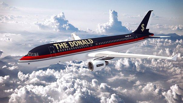 Donald Trump President America Usa Aircraf