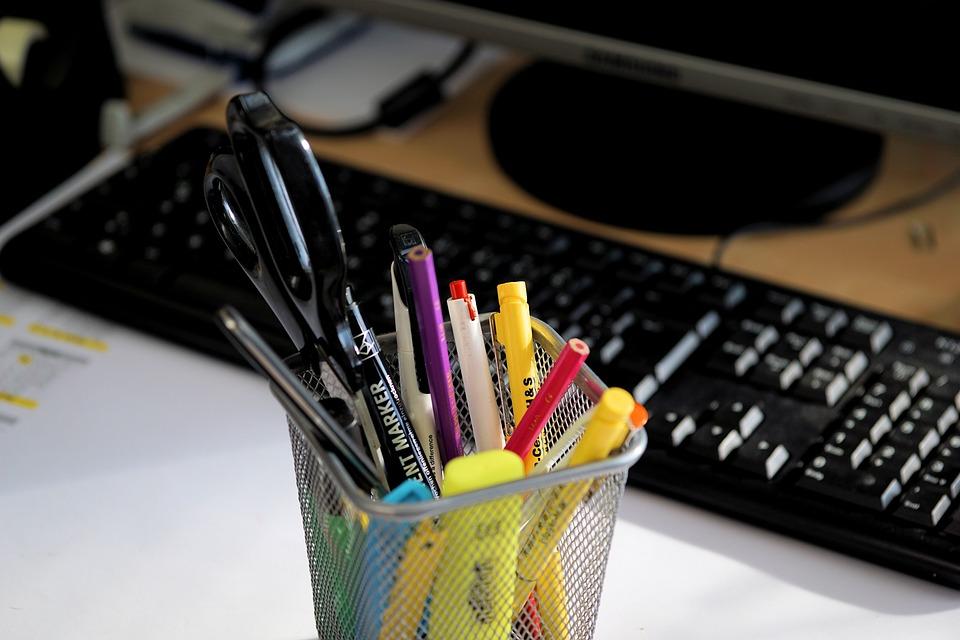 Bureau, Stylos, Écrire, Accessoires De Bureau