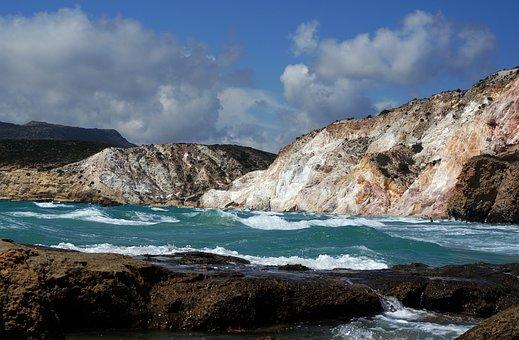 Greece, Greek Island, Milos, Nature, Bay