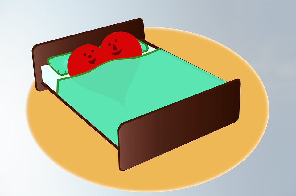 Bed, Heart, Love, Peace, Lie, Honeymoon, Bedroom