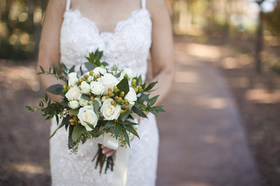 Casamento, Flores, Buquê, Branco, Flores Do Casamento
