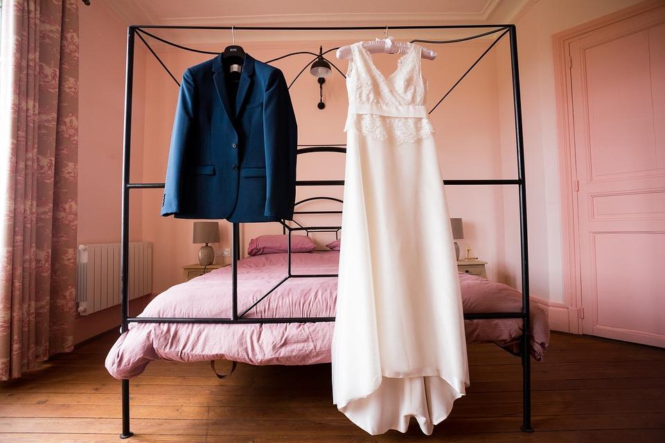 Vestido, Disfraz, Blanco, Azul, Color De Rosa, Boda