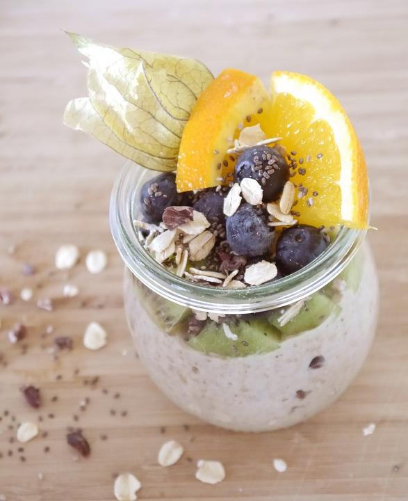 Porridge, Breakfast, Vegan, Oatmeal, Chia