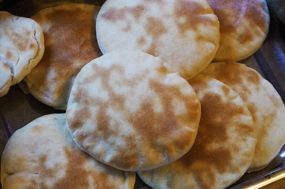 Жареный, Хлеб, Пита, Арабский Хлеб