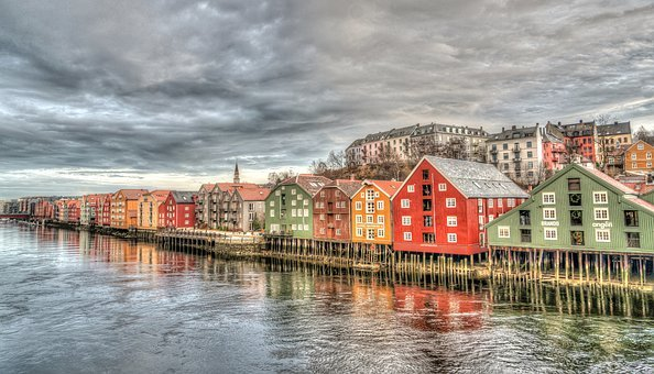 Trondheim, Row Houses, Norway