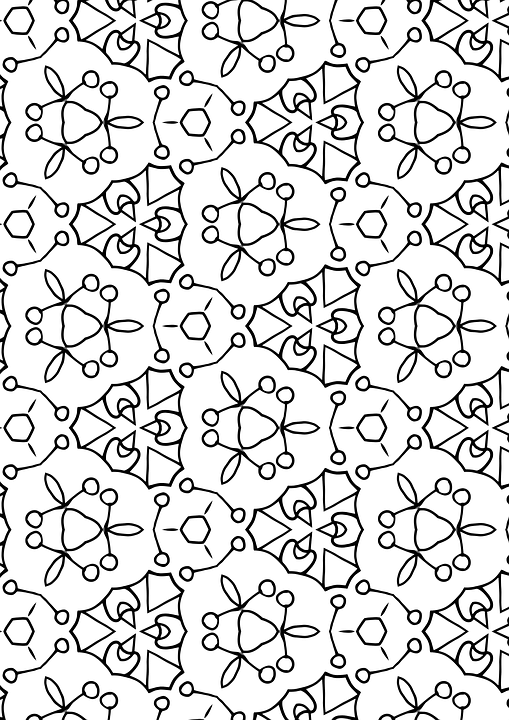 pattern floral coloring page free image on pixabay