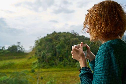 コーヒー, 酔っぱらい, 冷, 大人, 飲酒, ジンジャー, 赤い髪