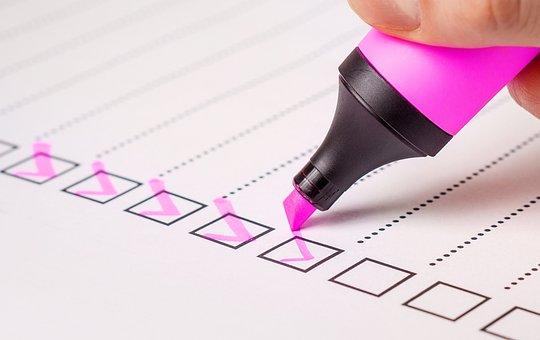 Checkliste, Überprüfen, Liste, Marker