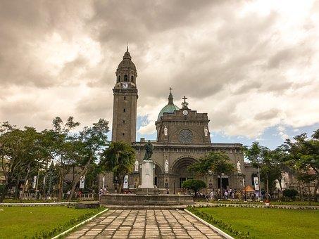 フィリピン共和国, マニラ, カテドラル, 大聖堂, 教会, マニラ, マニラ