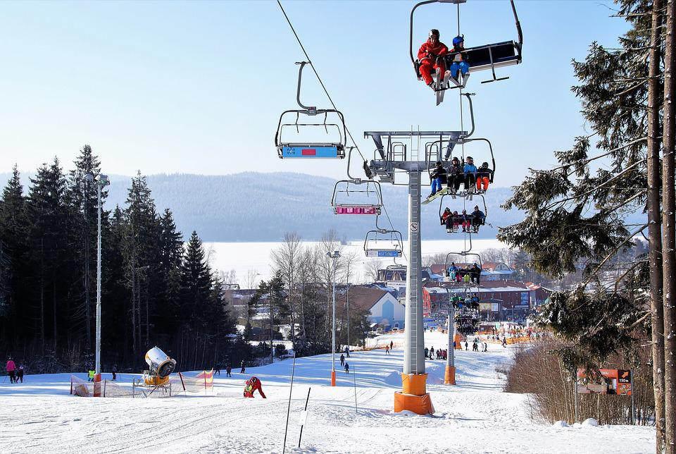 Winter, Snow, Ski Resort, Ski Slope, Cableway, Skiers