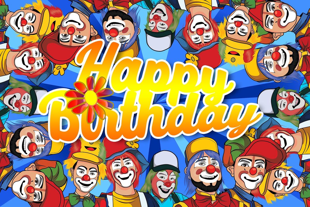 поздравления клоуном для дня рождения нее принимали