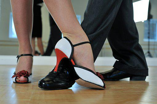 Argentine Tango Feet Dancers Dance Couple