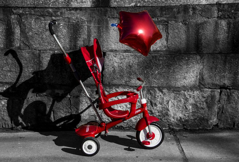 Stroller Red Balloon Free Photo On Pixabay