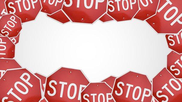 停止, 記号, トラフィック, 危険, 警告, 注意, 道路, 高速道路, 駆動