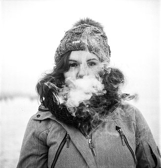 Vape, Girl, Portrait, Smoke, Electronic