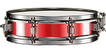 snare drum, red