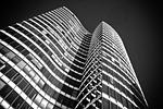 architektura, drapacz chmur, fasady szklane
