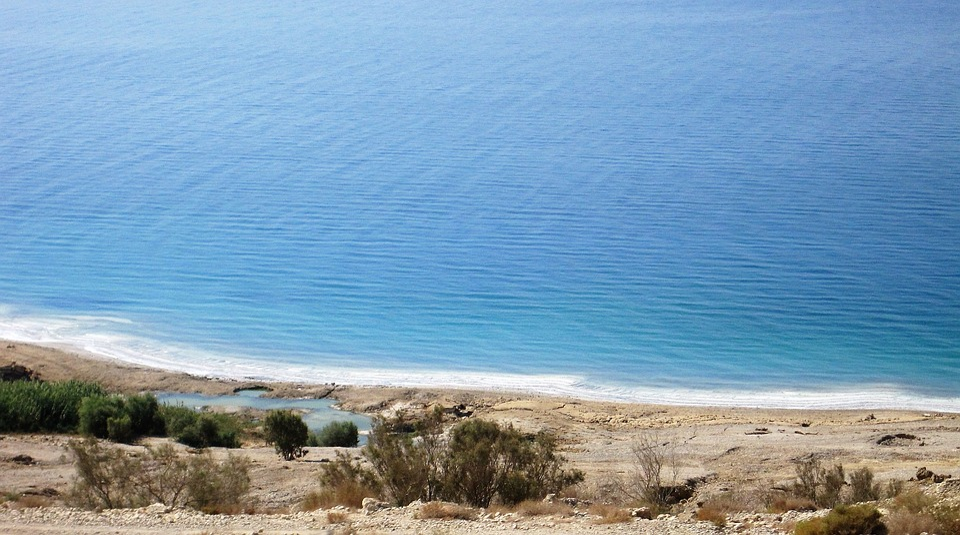 Dead Sea, Israel, Shore, Beach