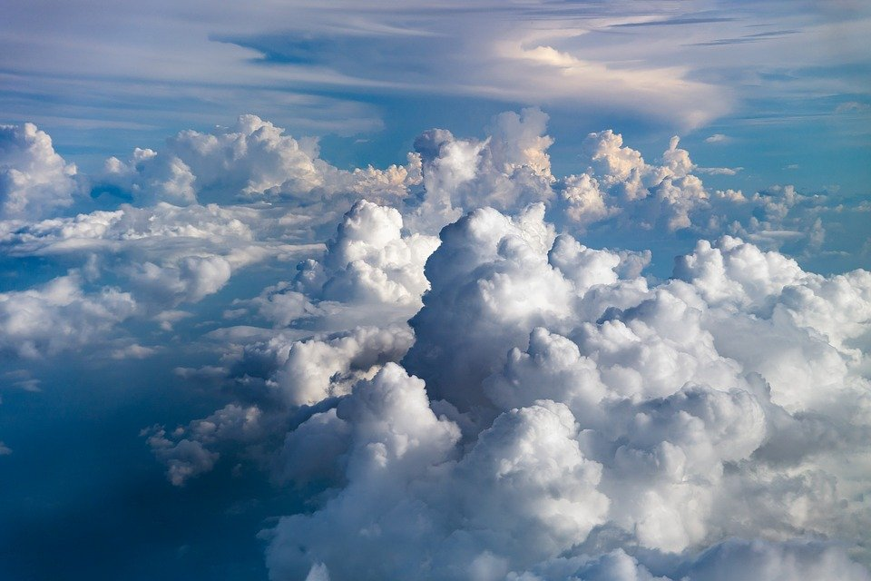 clouds sky blue free photo on pixabay