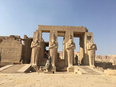 Egipto, Faraónico, Estatuas, Templo
