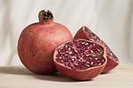 pomegranate, fruit, halved