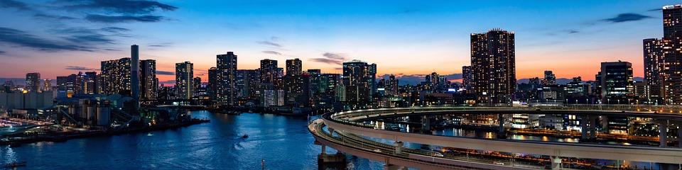 虹の橋, 東京, ブリッジ, ランドマーク, 旅行, アーキテクチャ, 日本, 市, 夜, ベイ, パノラマ