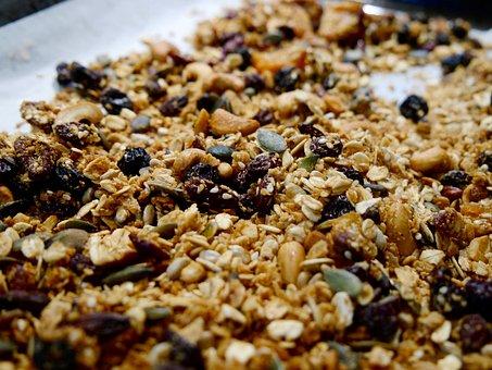 Granola, Homemade, Nuts, Seeds