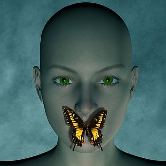Woman Butterfly Psychology Female Fantasy