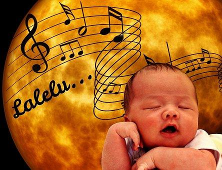 Baby, Schlafen, Mond, Kinderlied
