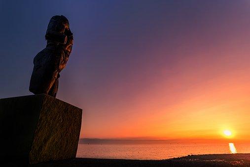Escultura, Puesta Del Sol