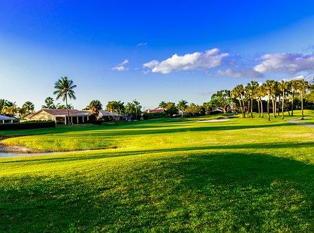Golf, Fairway, Cours, Jouer Au Golf