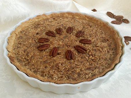 Pecan Pie Cake Bake Nuts Sweet Pastries Be