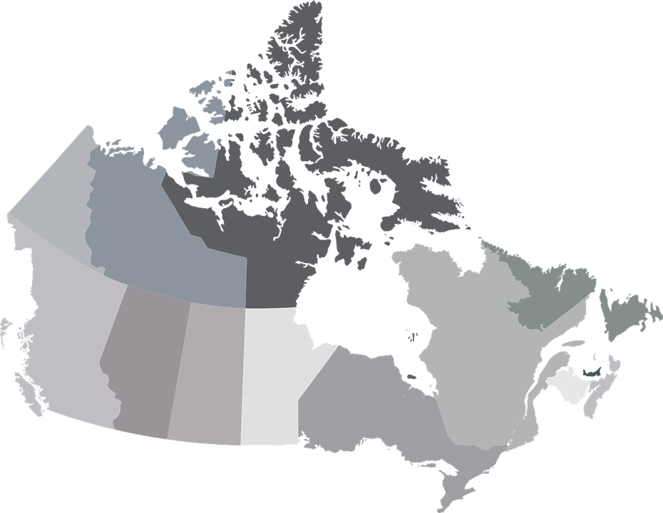 Map Canada Provinces Free vector graphic on Pixabay