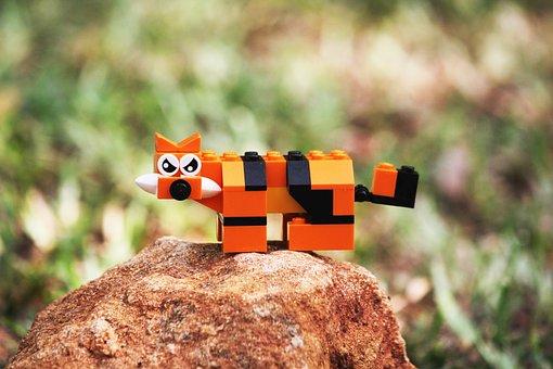 Tiger, Toy, Animal, Cute, Cat, Cartoon