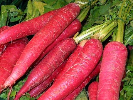 赤大根, 野菜, 健康的な食事します, 食べる, 健康, 食品, ビタミン, 赤