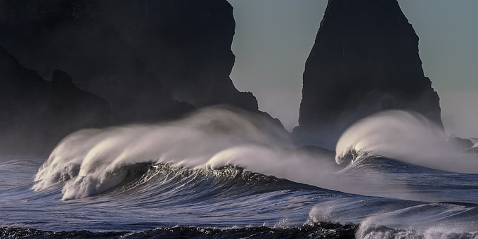Beach Pacific Coastline Ocean Coast Pacifi