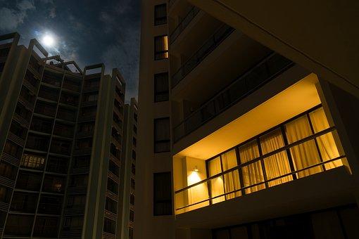 Night Light Apartment Flat Balcony Alone M