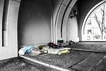 homeless, blankets, charity
