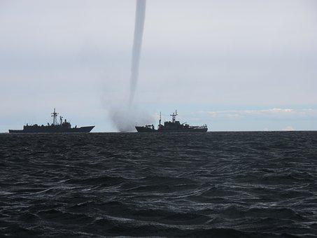 Whirlwind The Baltic Sea Warship Storm Clo