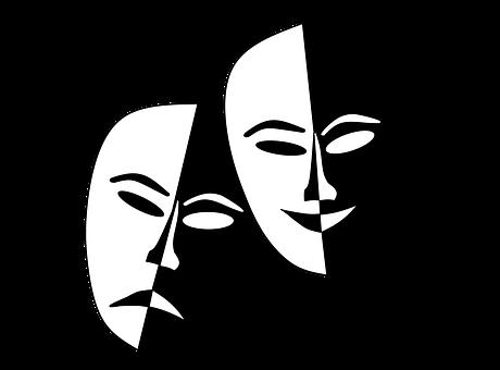 Theatermasken, Maski, Teatr, Szczęśliwy