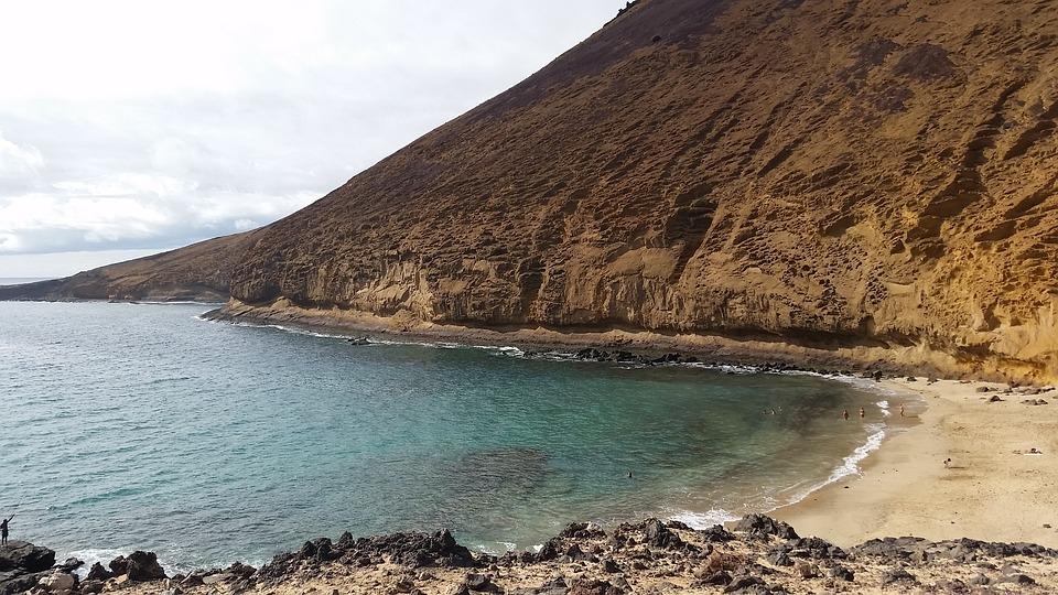 Strand, De Sierlijke, Lanzarote, Berg, Natuur