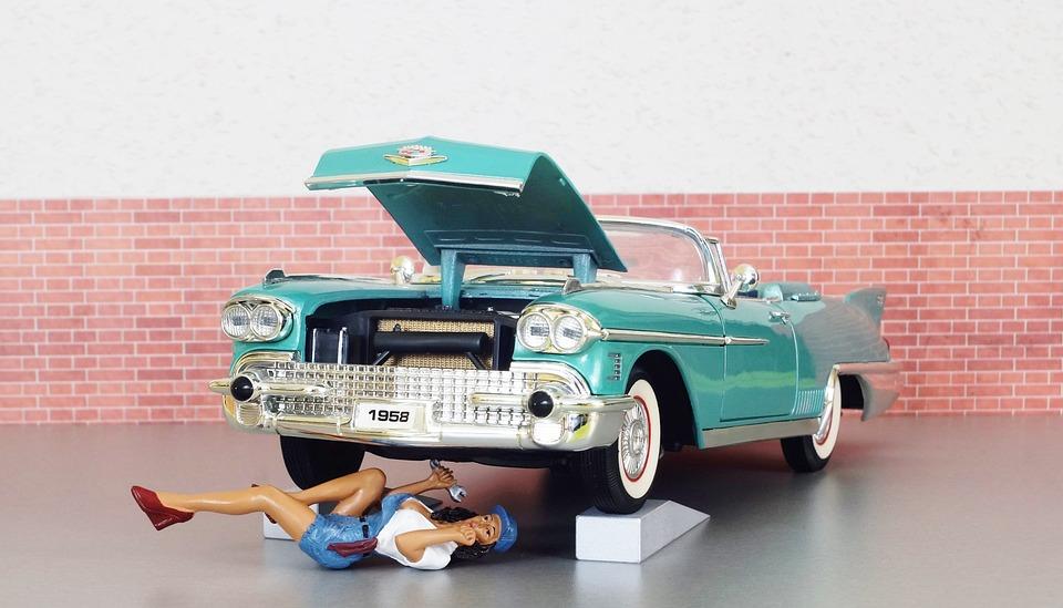 model car cadillac cadillac eldorado mechanic
