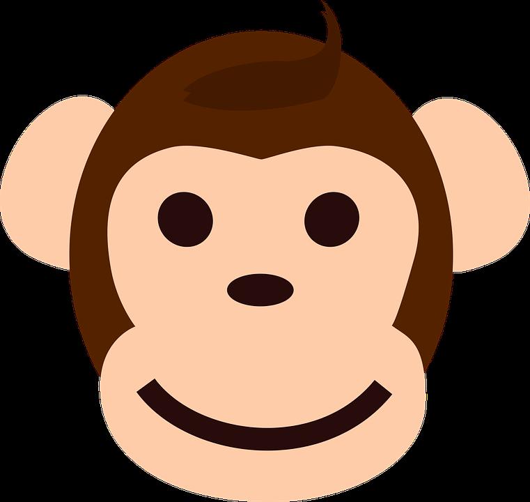 monkey face happy free vector graphic on pixabay rh pixabay com cartoon monkey face paint cartoon monkey face pictures