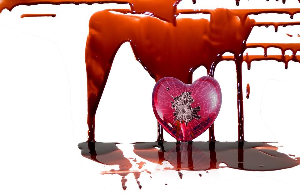 Blood Heart Broken Heart Sad Broken Bloody