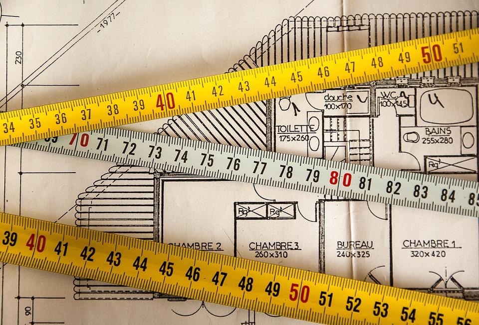Plano, Construção, Medição, Arquiteto, Trabalho